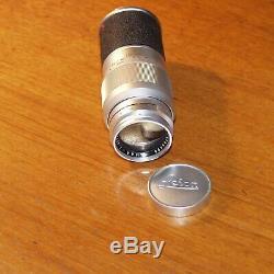 135mm f4 LEITZ Leica ELMAR M TELEPHOTO PRIME LENS SATIN CHROME M2 M3 M4 M6 1960