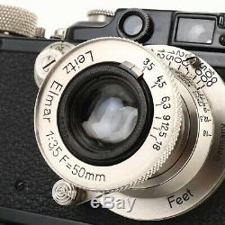 1933 Leica Leitz III(F) Camera + Nickel Elmar 50mm f3.5 Lens Paint is Superb