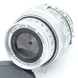 1955 Leica Leitz Collapsible ELMAR f=9cm 90mm 14 f4 Lens M Mount SERIAL 123