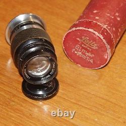9cm f4 ELMAR LEICA screw LENS L39 LTM for 35mm rangefinder camera BLACK 1936