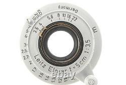 B V. Good Leica Elmar 5cm 50mm f/3.5 Collapsible Lens for L39 Screw Leitz 6852