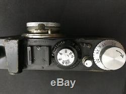 Black Leica Standard #137437 Leitz Wetzlar Camera Leitz-Elmar 13,5 F 50mm Lens