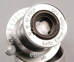 @CLA'd@ Leitz Elmar 50mm f3.5 Chrome Made in 1941 Serviced from JAPAN #014347