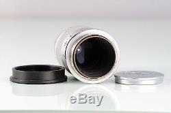 CLASSIC SCREW RANGEFINDER LEITZ LEICA ELMAR L39 F4 90mm 9cm SILVER EXCELLENT