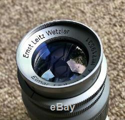Chrome Leica Leitz Wetzlar Elmar 14/90mm M39 /LTM Screw Mount Lens