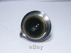 E. Leitz 3.5/3,5cm Elmar M39 screw mount LSM f=35mm 1941 WAR Time Rare Leica lens