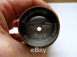 E. Leitz Wetzlar Objektiv Nickel Elmar 4/9cm frühes Sammlerstück RAR
