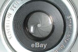 EXC+++++ Leitz Leica Elmar M 50mm 5cm f/3.5 E39 Chrome Lens from JAPAN #761