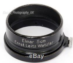 Elmar 5cm A36 fit Lens Hood RARE! BLACK Paint FISON Ernst LEITZ Wetzlar Germany