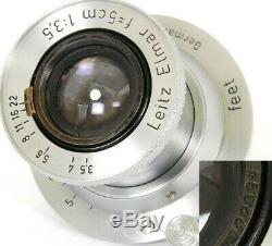 Elmar f=5cm 13.5 Prime Lens by LEITZ Wetzlar for LEICA LTM / Leica M