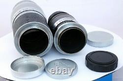 Ernst Leitz Elmar f=9cm 14. Hektor f=13.5 cm 14.5 lens w. Plastic cases