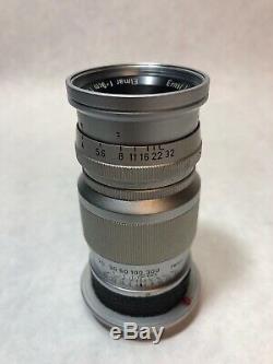Ernst Leitz GmbH Wetzlar Elmar 9cm 14 Lens Camera Lens 1355396 Germany