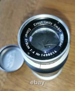 Ernst Leitz GmbH Wetzlar Leica M ELMAR-M f14/90mm Lens Chrome Superb