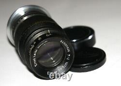 Ernst Leitz Leica 90mm F4 Elmar RARE Black Chrome LTM M39 Lens MADE in 1940