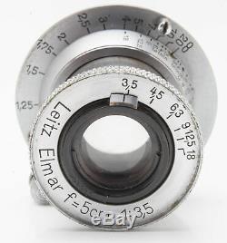 Ernst Leitz Wetzlar Elmar 5cm 5 cm 50mm 50 mm 13.5 3.5 M39 M 39 Leica