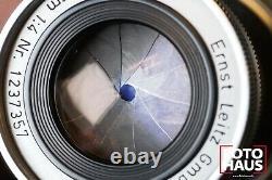 Ernst Leitz Wetzlar Elmar 9cm 90mm f/4 Leica M 1237357 collapsible 1955 m3 m4 m2