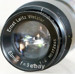 Ernst Leitz Wetzlar Leica Elmar 9 cm 14 M39 black TOP