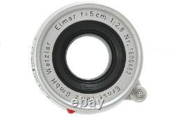 Exc+5Leitz Wetzlar Elmar 50mm f/2.8 Lens Leica M from Japan #745