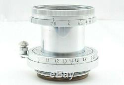 Exc +++++ Leica Leitz Elmar 5cm 50mm f/2.8 LTM L39 Lens from JAPAN 016