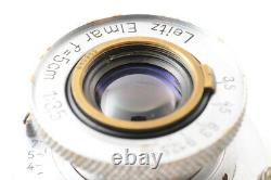 ExcellentLeica Leitz Elmar 50mm 5cm F/3.5 L39 LTM MF Lens +19mm Filter JAPAN