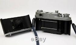 Fed 3a Type1c/w Leica Elmar 50mm f3.5 lens + Leica Leitz VIOOH Viewfinder Ex+++