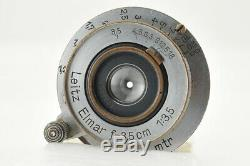 Good Leica Leitz Elmar 3.5cm (35mm) f/3.5 L Mount Lens from Japan #3697