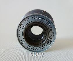 Industar-22 Moskva 1948 50mm f/3.5 Leitz Elmar Soviet Copy lens for FED-Zorki