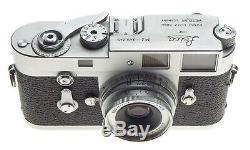 Just Serviced Leica M2 SS 35mm film camera ELMAR 12.8 f=5cm Leitz lens chrome