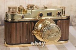 LEICA D. R. P. Art Camera + Leitz Elmar Lens Vintage 35mm Red color /FED copy