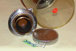 LEICA ELMAR 12.8 50mm OBJEKTIV LEITZ WETZLAR MADE IN GERMANY (X00033)