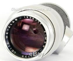 LEICA Elmar 14/135 ELMAR-M 135mm F4 TELEPHOTO Lens made by LEITZ Wetzlar 1960