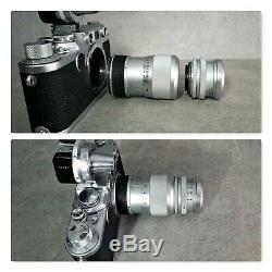 LEICA Elmar 4/9 cm + LEITZ OUAGO 14/90 + LEICA COOED Focusing mount M39
