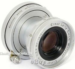 LEICA Elmar f=5cm 12.8 / ELMAR LTM 2.8/50mm Leitz ELMOO 11512 Lens made in 1958
