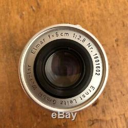 LEICA Elmar f=5cm 12.8 ELMAR LTM 2.8/50mm Lens Leitz made in 1958