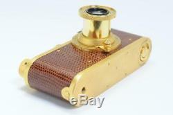 LEICA I LEITZ Gold model with Elmar 5cm F/3.5 lens Excellent++2279