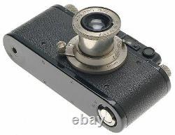 LEICA II (D) BLACK RANGEFINDER M39 SCREW MOUNT NICKLE LEITZ ELMAR 3.5 f=5cm LENS