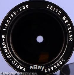 LEICA LEITZ 75-200MM VARIO-ELMAR-R F4.5 11226 3CAM ZOOM R LENS With CAP. NICE