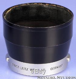 LEICA LEITZ 90MM ELMAR F4 11631 COLLAPSIBLE DUAL SCALE M LENS +SHADE +UVa RARE