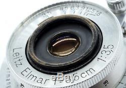 LEICA LEITZ ELMAR 3.5cm (35mm) f3.5 LTM EKURZ 1938 GORGEOUS