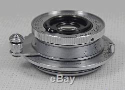 LEICA LEITZ ELMAR 35mm F3.5 WIDE ANGLE SCREW MOUNT LENS EXCELLENT