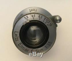 LEICA LEITZ ELMAR F = 5cm (50mm) 13.5