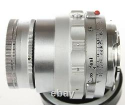 LEICA Leitz 90mm Collapsible ELMAR M Lens withCaps Chrome Wetzlar f4 Germany