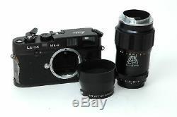 LEICA M4-2 35mm Camera PLUS Leitz Wetzlar-Tele-Elmar 135mm F/4 Lens