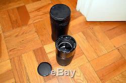 LEICA R Elmar R 70-210mm f4 lens with Leitz leather pouch