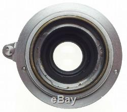 LEITZ Elmar M39 Leica chrome red scale lens f=5cm 13.5 keeper cap 3.5/50mm nice