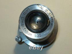 LEITZ Leica Elmar 5 cm 13.5 M39 MOUNT LTM # 533961. From 1939