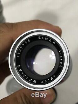 LEITZ WETZLAR Leica 90mm f4 Elmar and Leica 13.5cm F4.5 Hektor. Read