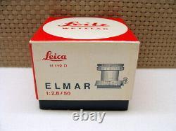 Leica 11112 D Leitz Leica Elmar-M 12.8/50mm E39 1a Sammlerstück OVP