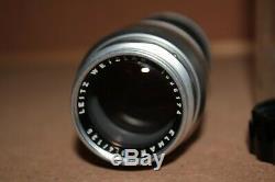 Leica 135mm Elmar f/4 Lens Leica M Mount Leitz Wetzlar German