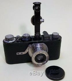 Leica 1A Film Camera with 50mm Leitz Elmar Lens & accessories 1929 Rare Collect